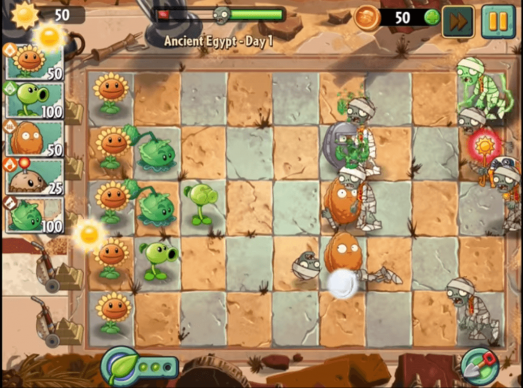 platns vs zombies 2 tower defense